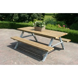 Picknicktafel Industrieel